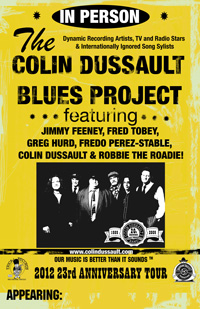 Colin Dussault Blues Project Band Promo Poster